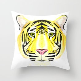 Golden Tiger Throw Pillow