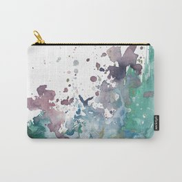 Shining Bright - Abstract Mixed Media Painting Carry-All Pouch