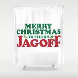 Merry Christmas Jagoff Shower Curtain