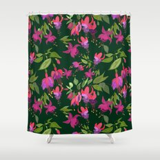 April blooms(Fuchsia)  Shower Curtain