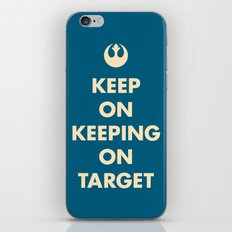 Keep On Keeping On Target (Blue) iPhone & iPod Skin