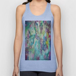Watercolor Explosion Painting Unisex Tank Top