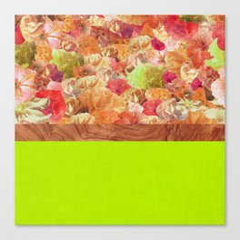 Layers Floral Lime Canvas Print