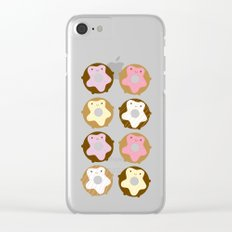 Kawaii Donuts Clear iPhone Case