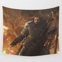 thorin Wall Tapestries featuring Thorin by PrintsofErebor