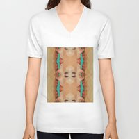 kiss V-neck T-shirts featuring Kiss by Nahal