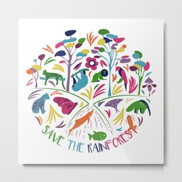 Save the Rainforest Metal Print