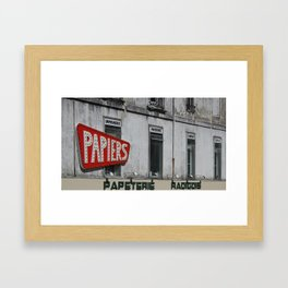 PAPIERS, France Framed Art Print