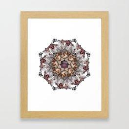 ghost net mandala Framed Art Print