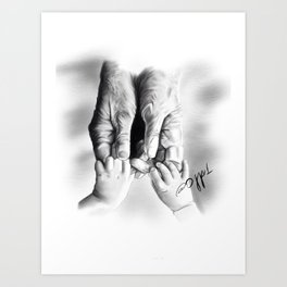 I Will Never Let You Go Art Print