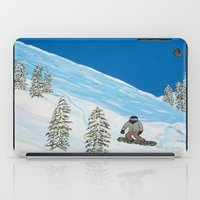 snowboarding iPad Cases featuring Snowboarding by N_T_STEELART