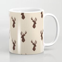 Brown Stag Pattern  Coffee Mug
