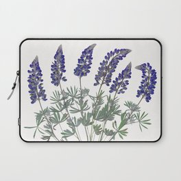 Pressed Lupine Flowers Bouque Laptop Sleeve
