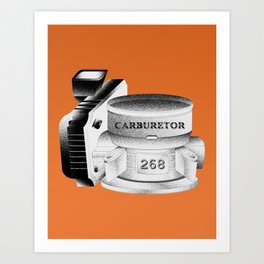 Carburetor Art Print