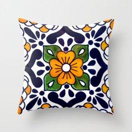 talavera mexican tile Throw Pillow