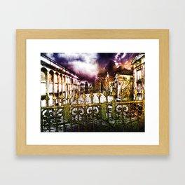 New Orleans cemetery Framed Art Print