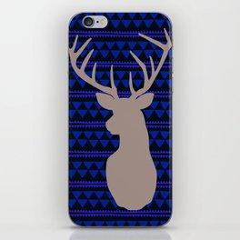 Deer on triangle wallpaper iPhone Skin