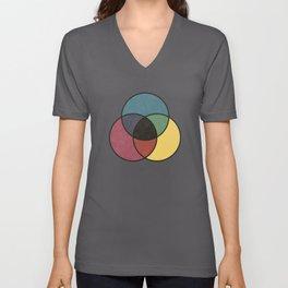 Matthew Luckiesh: The Subtractive Method of Mixing Colors (1921), vintage re-make Unisex V-Neck