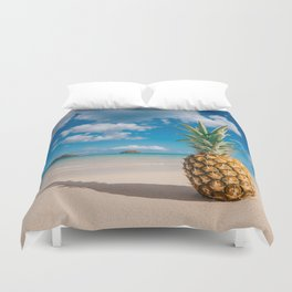 Pineapple and the Mokes Duvet Cover