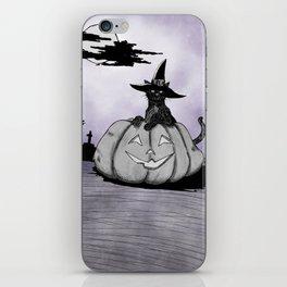 Happy Halloween! Cat anTheir Jack-o'-lantern iPhone Skin