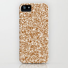 Tiny Spots - White and Brown iPhone Case