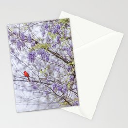 Cardinal and wisteria Stationery Cards