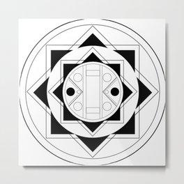 Art Deco Bulletpoint Metal Print