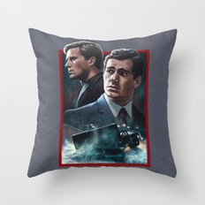 The Cowboy & the Red Peril Throw Pillow