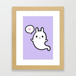 Cutie Bunny Ghost 02 Framed Art Print