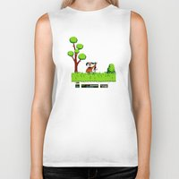 gameboy Biker Tanks featuring Gameboy by Janismarika