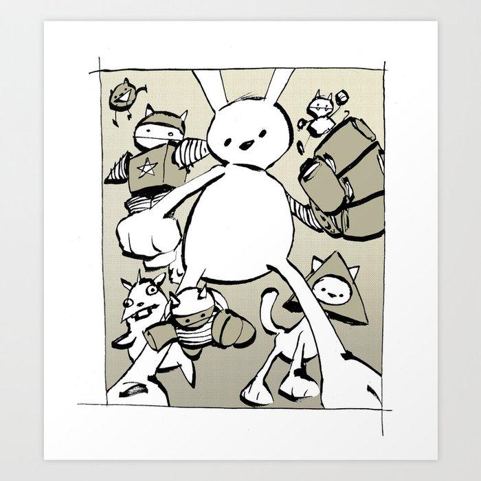 minima - beta bunny Art Print