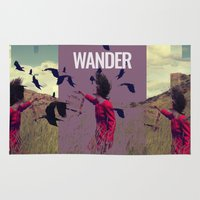 wander Area & Throw Rugs featuring WANDER by Christel Sayegh