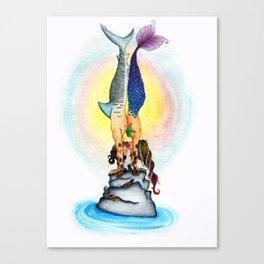 Yogi Kiss Canvas Print