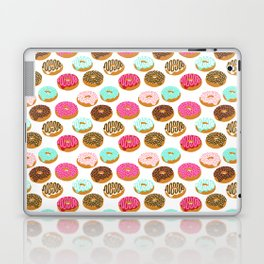 Donuts art print junk food pattern design kids minimal modern kitchen baking breakfast hipster baker Laptop & iPad Skin
