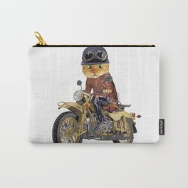 Cat riding motorcycle Carry-All Pouch