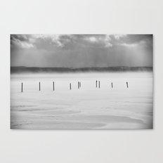 Lake Posts in February Canandaigua Lake Canvas Print
