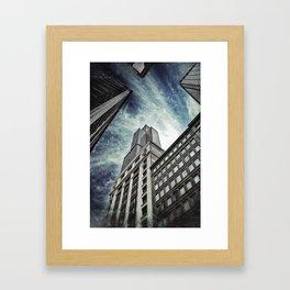 Chicago [Sky cut N°426] Illinois, Usa Framed Art Print