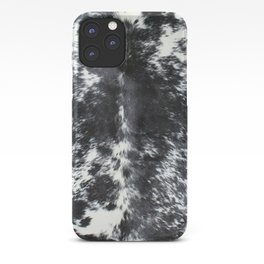Cowhide black and white | Textures iPhone Case