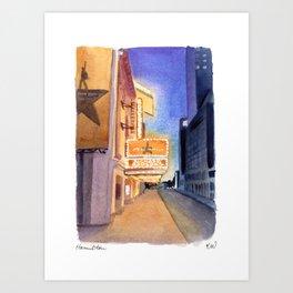 Hamilton Marquee Art Print