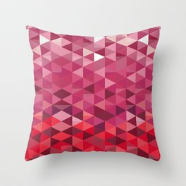 Pink and Purple Triangle Pattern Throw Pillow