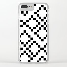 Monocrom pattern Clear iPhone Case