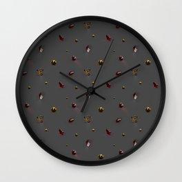 Gold and Garnets Wall Clock