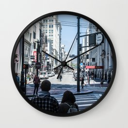 San Francisco street lines Wall Clock