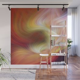 Warm Psychedelic Fibers Wall Mural
