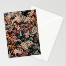 Autumn Leafs Pattern (Color) Stationery Cards