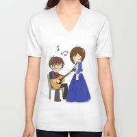 bioshock infinite V-neck T-shirts featuring Bioshock Infinite - Booker and Elizabeth by Choco-Minto