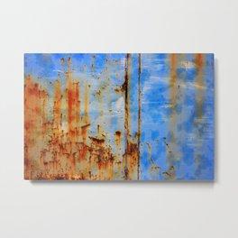 Rust Grunge Texture Metal Print
