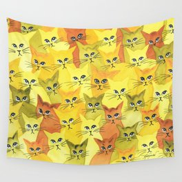 Yellowstone Whimsical Cats Wall Tapestry