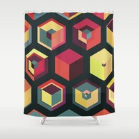 fez Shower Curtains featuring Idea Kitchen by Terran Relic