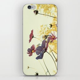the last autumn flowers iPhone Skin